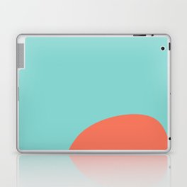 turquoise and orange Laptop & iPad Skin