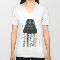 darth vader V-neck T-shirts featuring Darth Vader by McCoy
