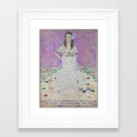gustav klimt Framed Art Prints featuring Gustav Klimt Mäda Primavesi  by Artlala for MSF Doctors Without Borders