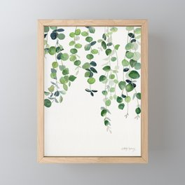 Eucalyptus Watercolor 2  Framed Mini Art Print
