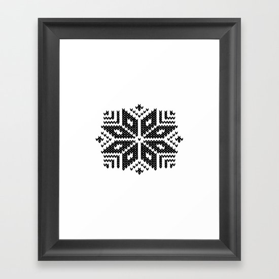 knit flake Framed Art Print