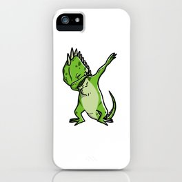 Funny Dabbing Iguana Reptile Dab Dance iPhone Case