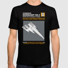 Normandy SR-2 Cerberus Service and Repair Manual MEDIUM Black Mens Fitted Tee