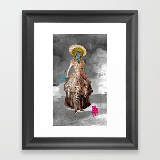 Goya -  Marquesa de Pontejos - Collage Framed Art Print