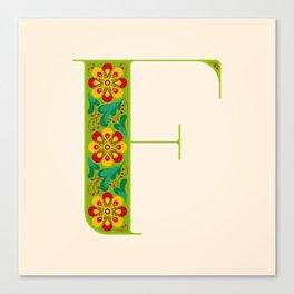 F - Amarilis Canvas Print
