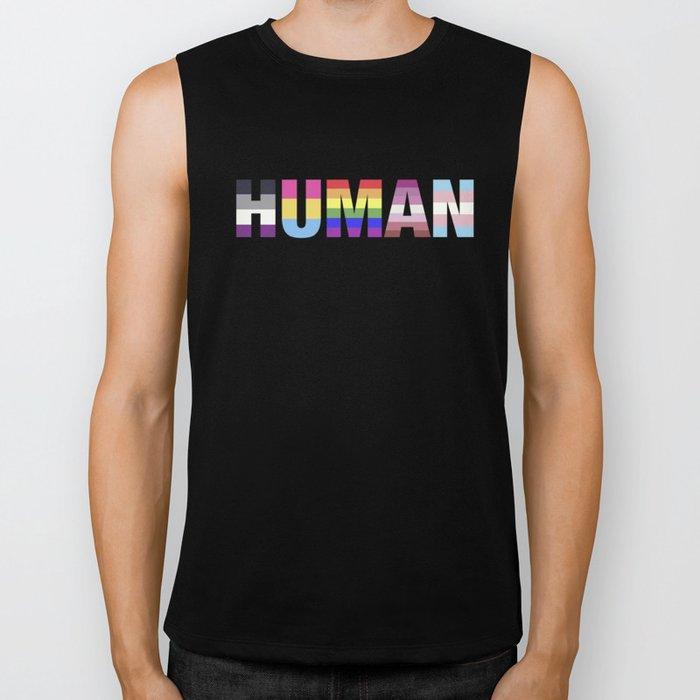 Human pride Biker Tank