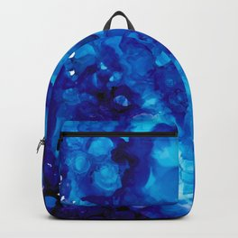 Alcohol Ink Art Blue Purple Clouds Abstract Design - LaurensColour Backpack
