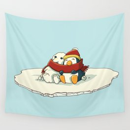 Penguin snowfriends Wall Tapestry