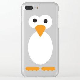 Minimal Penguin Clear iPhone Case