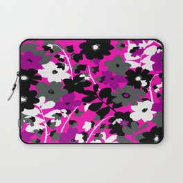 SUNFLOWER TOILE PINK BLACK GRAY WHITE PATTERN Laptop Sleeve