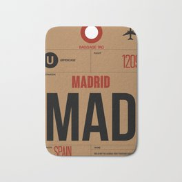 MAD Madrid Luggage Tag 2 Bath Mat