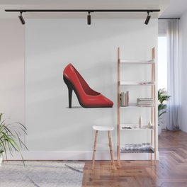 High Heel Emoji  Wall Mural