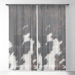 Cowhide Texture Sheer Curtain