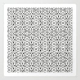 black flower pattern Art Print