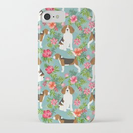 Beagle hawaiian dog pattern tropical pattern cute gifts for dog lover dog breeds iPhone Case