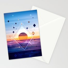 Abstract Geometric Collage II Stationery Cards