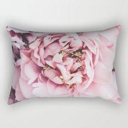 Pink Blush Peonies Rectangular Pillow
