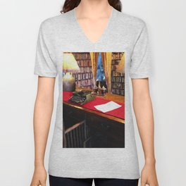 Pearl S Buck Library Unisex V-Neck