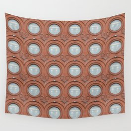 A Big Round Window Wall Tapestry