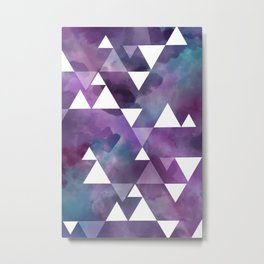 berry watercolor triangles Metal Print