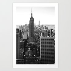 Empire State II (From the Top of the Rock) - b&w Art Print