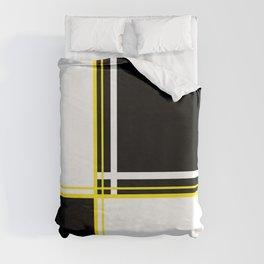 Mod 60's - White Yellow & Black Duvet Cover