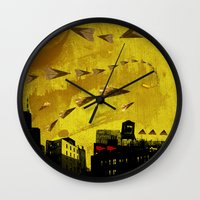 cigarettes Wall Clocks featuring airplanes and cigarettes by Trevor Bittinger