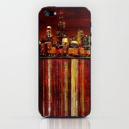 Chicago Night Skyline iPhone Skin