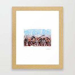Mesopotamia in Arabic Framed Art Print
