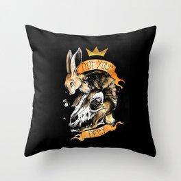 Not your prey Throw Pillow