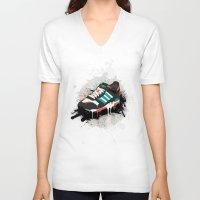 sneaker V-neck T-shirts featuring Sneaker by Nicu Balan