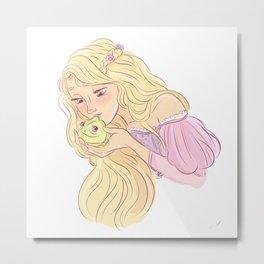 rapunzel and pascal Metal Print