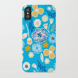 swedish summer blue iPhone Case