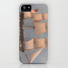 The English Merchant Ship Malabar - William Clark  iPhone Case