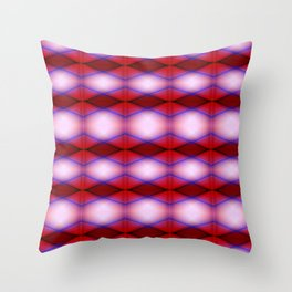 pattern red 3 Throw Pillow
