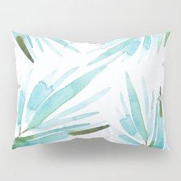 Palm tree leaves Pillow Sham