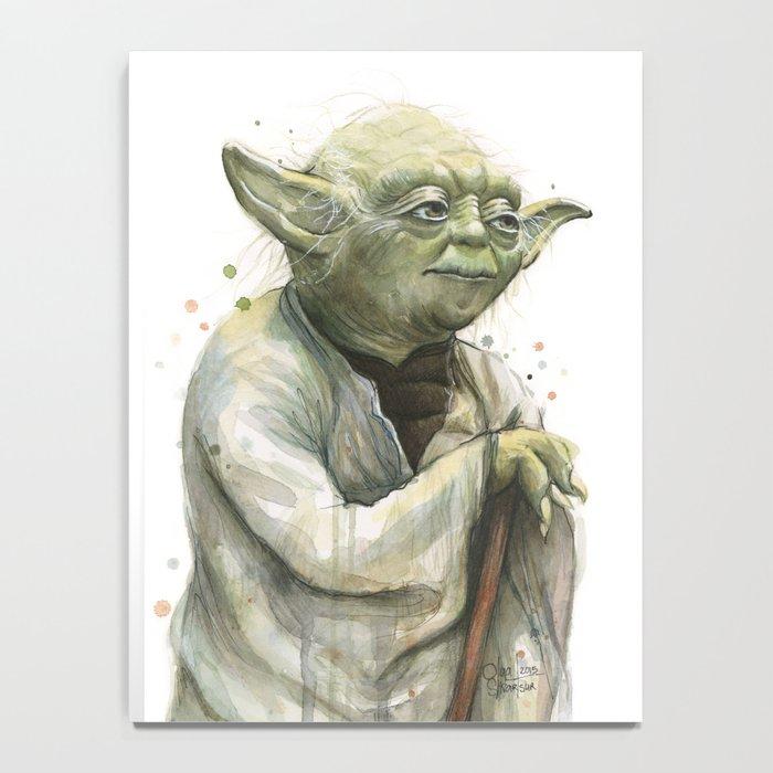 Yoda Jedi Portrait Sci-Fi Notebook