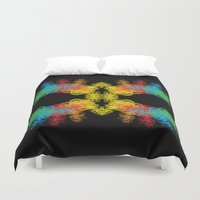 mask Duvet Covers featuring Mask by kartalpaf