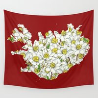 iceland Wall Tapestries featuring Iceland by Ursula Rodgers