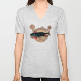 The Flying Whale Unisex V-Neck