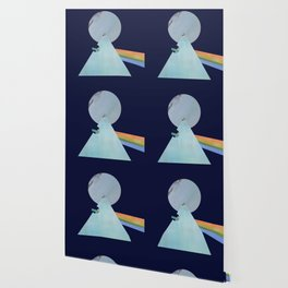 The Moon's Dark Side, prism, rainbow Wallpaper