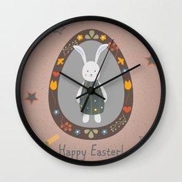 Cute Easter Bunny Wall Clock