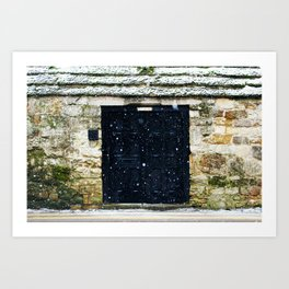 Snowy English Doorway Art Print
