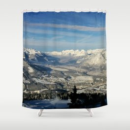 Innsbruck In Winter From Patscherkofel Mountain Shower Curtain