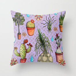 Botanical Sketches of Some Favorites  Throw Pillow