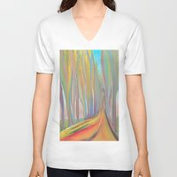 infinity V-neck T-shirts featuring infinity by Loosso