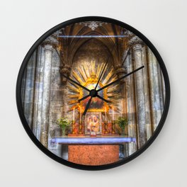 Saint Padre Pio St Stephens Cathedral Vienna Wall Clock