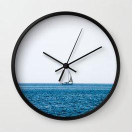 Croatia Blue (2) Wall Clock