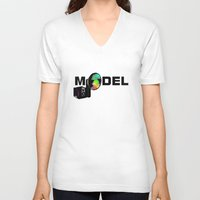 model V-neck T-shirts featuring Model by Tali Rachelle