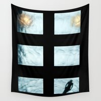 pool Wall Tapestries featuring Ceiling pool by nast